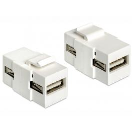 Delock Keystone Module Usb 2.0 A Female  Usb 2.0 A Female
