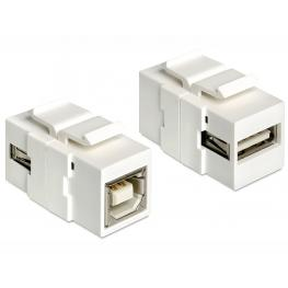 Delock Keystone Module Usb 2.0 A Female  Usb 2.0 B Female