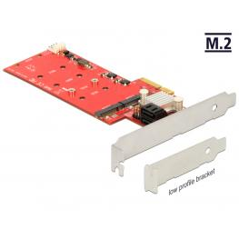 Delock Pci Express Card  2 X Internal M.2 Ngff + 2 X Sata 6 Gb/s With Raid