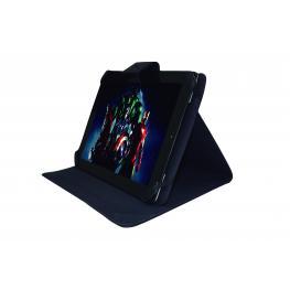 Funda Con Atril, Universal de Cuero Para Tablet. Tamaño 10 Negra