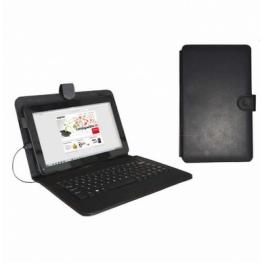 Funda Universal Para Tablet 9,7 Con Teclado (Negro)