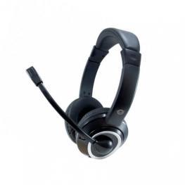 Headset Conceptronic Polona  Usb Microfono Flexible Control de Volumen  Color Negro / Blanco