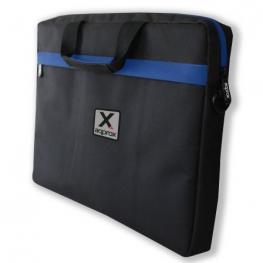 Maletín Approx Appnb15S Negro/azul - Hasta 15.6/39.62Cm - Relleno Resistente y de Gran Espesor - Bolsillo Adicional - Bandolera