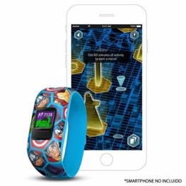 Pulsera Cuantificadora Infantil Garmin Vivofit Jr 2 Avengers - Pantalla Color - Bt - Batería Hasta 1 Año - Comp. Android/iphone - Resistente