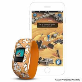 Pulsera Cuantificadora Infantil Garmin Vivofit Jr 2 Bb-8 - Pantalla Color - Bt - Batería Hasta 1 Año - Comp. Android/iphone - Resistente