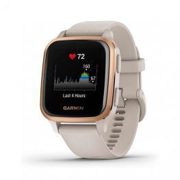 Reloj Deportivo Con Gps Garmin Venu Sq Music Edition Gold Rose / Correa Silicona Beige - Pantalla 3.31Cm - Multisport - Control Salud - 5Atm