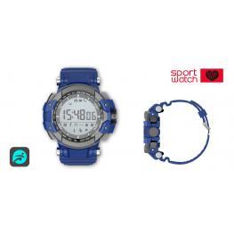 "Sport Watch Azul · Pantalla 1.11""· Bluetooth 4.0 · Lector de Pulsaciones · Sumergible Ip68 · G-Sensor · Pila Interna Cr2450 3V · Soporta Android & Ios"