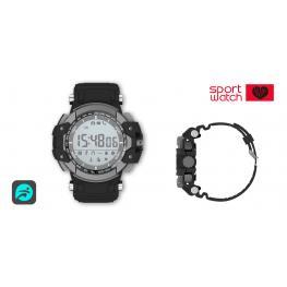 """Sport Watch Negro · Pantalla 1.11""""· Bluetooth 4.0 · Lector de Pulsaciones · Sumergible Ip68 · G-Sensor · Pila Interna Cr2450 3V · Soporta Android & Io"""