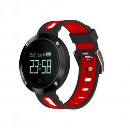 """Sport Watch Negro y Rojo · Pantalla 0.95"""" Oled · Bluetooth 4.0 · Lector de Pulsaciones · Tensiometro ·  Resistente Al Agua · Sensor Giroscopio 3 Ejes"""