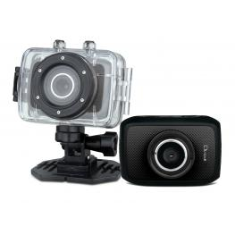 Video Camara Deportiva Hd, Negra 5Mp Sumergible