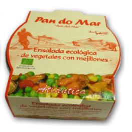 Ensalada Ecológica de Vegetales Con Mejillones