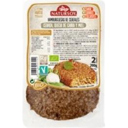 Hamburguesa Cereales ( Cebada, Queso Cabra y Miel)