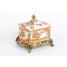 Caja Rect. Porcelana/resina 22X22 Cm