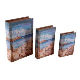 Set 3 Libro Secreto 33X22X7 Cm Mar