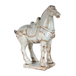 Caballo Ming 30X11X30 Cm Ceramica Craqueada