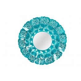 Espejo Metal 60X7 Pared Azul