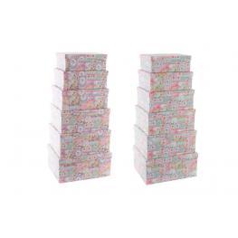 Caja Set 6 Carton 38X30X17 Loro 2 Surt.