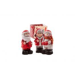 Figura Ceramica 2,5X3X7 Navidad 3 Surt.