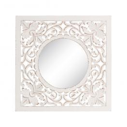 Espejo Talla Blanco Rozado Dm-Cristal 60,70 X 2 X 60,70 Cm