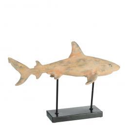 Figura Tiburón Natural-Gris Poliresina 51 X 33 X 20 Cm