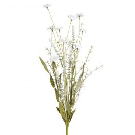 Rama Flores Silvestres Blanco Pvc 59 Cm