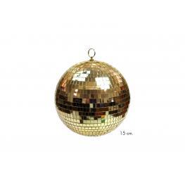 Bola Espejos Oro Decoración Navidad 15 X 15 X 15 Cm