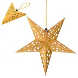 Colgante Estrella Papel Oro 45 X 45 Cm