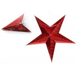 Estrella Cartón Rojo 2/m 60 X 20 X 60 Cm