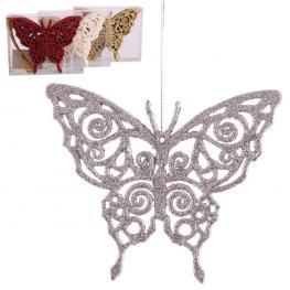 S/6 Colgante Mariposa Plástico 4/c 11,50 X 9,50 Cm