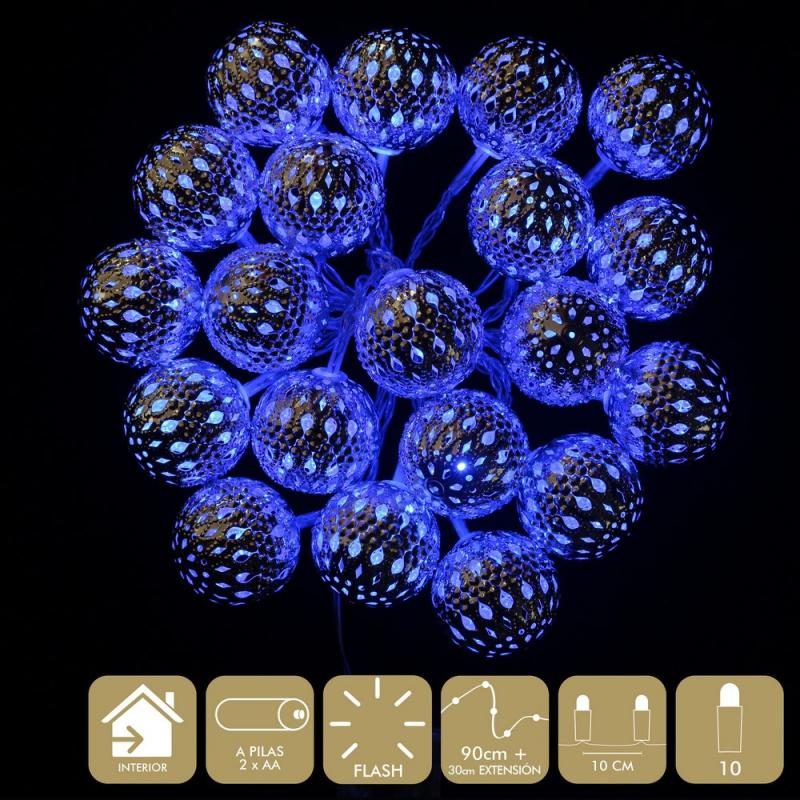 10 Luces Led Flash Azul