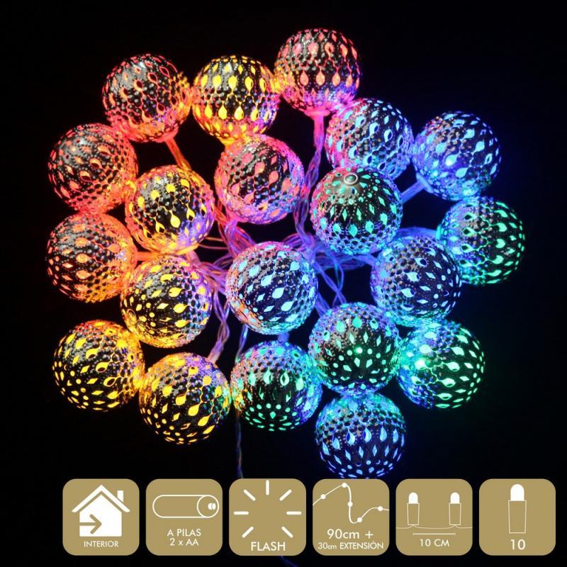 10 Luces Led Flash Multicolor