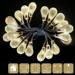 20 Luces Led Flash Cálido