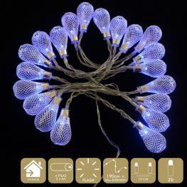 20 Luces Led Flash Azul