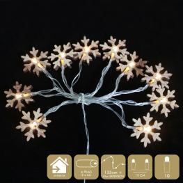 10 Luces Led Fijas Estrella Nieve