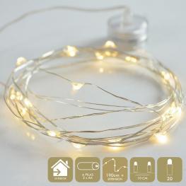 Micro-Led 20 Luces Metal Cálido