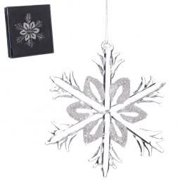 Estrella Cristal Decoración Navidad 6,50 X 7 Cm