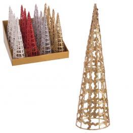 árbol Cono Metal 4/c Decoración Navidad 7,50 X 7,50 X 25 Cm