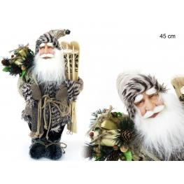 Figura Papa Noel Decoración Navidad 39 X 14 X 49 Cm