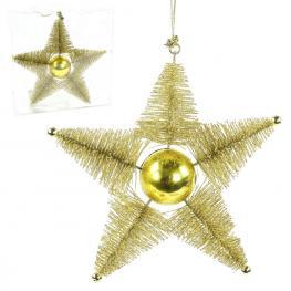 Colgante Estrella Plástico Oro 16 X 3,80 X 16 Cm
