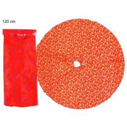 Pie árbol Tejido Rojo 120 X 120 X 0,10 Cm