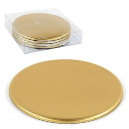 S/4 Posavasos Plástico Oro 10 X 10 X 0,30 Cm