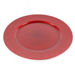 Bajo Plato Redondo Plástico Rojo 33 X 33 X 1,50 Cm