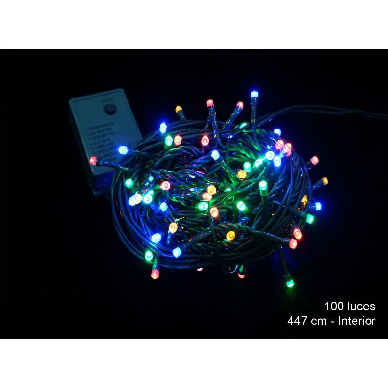 100 Luces Led 8 Funciones Multicolor