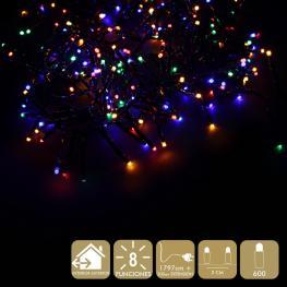 600 Luces Led 8 Funciones Multicolor