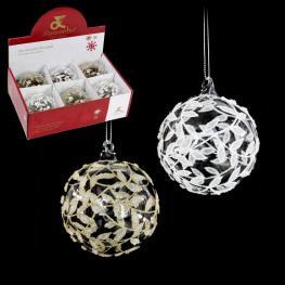 Bola Cristal 2/c Decoración Navidad 6 X 6 X 6 Cm