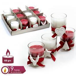 Vela Tarro Cristal nordic 4/m Navidad 5,50 X 6,70 Cm