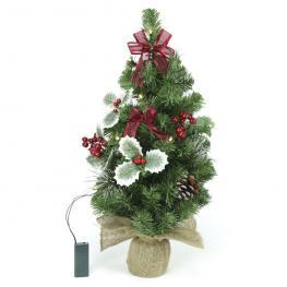 árbol Con Luz Decoración Navidad 30 X 30 X 60 Cm