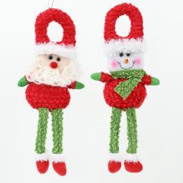 Colgante Muñeco 2/m Decoración Navidad 14 X 5 X 32 Cm