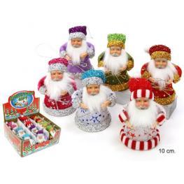 Papa Noel 6/c Decoración Navidad 6 X 6 X 13 Cm
