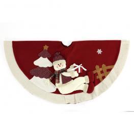 Cubre Pie árbol Muñeco Nieve 105 X 105 X 3 Cm